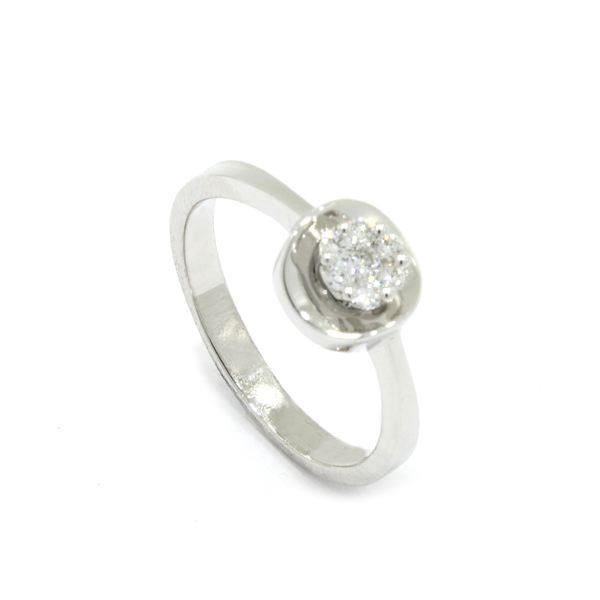 Foto de ANILLO ORO BLANCO 18K DIAMANTES 0,13CT