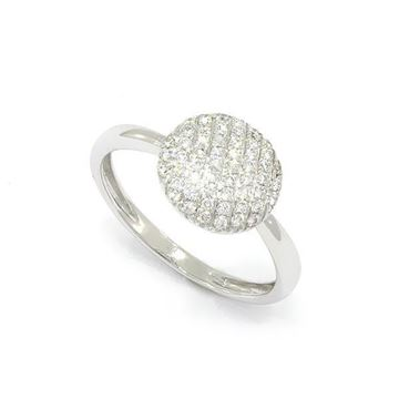 Foto de ANILLO PAVE ORO BLANCO 18K DIAMANTES 0,28CT