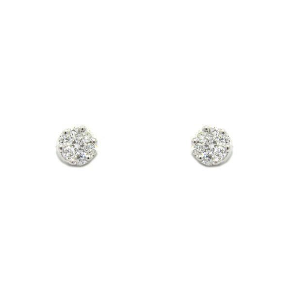 Foto de PENDIENTES ORO BLANCO 18K Y DIAMANTES 0,20CT