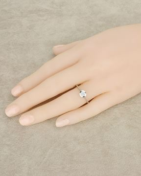 Foto de ANILLO SOLITARIO ORO BLANCO 18K DIAMANTES 0,11CT