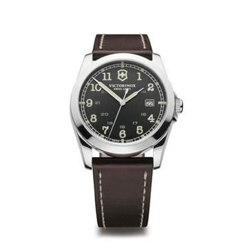 Foto de INFANTRY LARGE DARK GREY DIAL BROWN LEAT