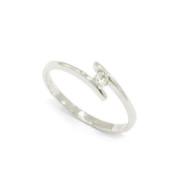 Foto de ANILLO SOLITARIO ORO BLANCO 18K DIAMANTE 0,08CT