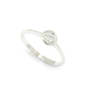 Foto de ANILLO SOLITARIO ORO BLANCO 18K DIAMANTES 0,15CT